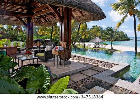 resort-and-spa-for-vacations - stock photo