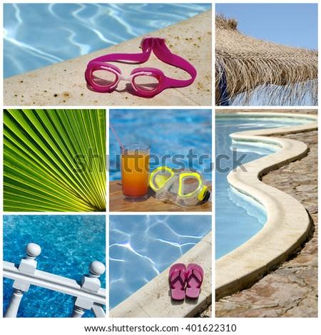 Resort collage - stock photo