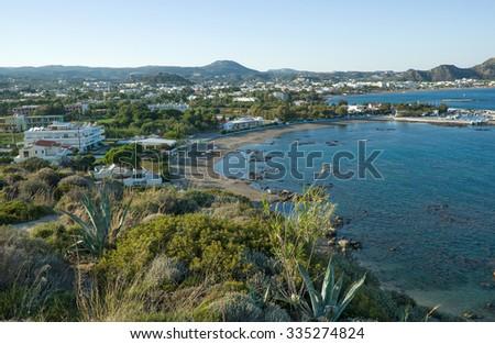 Resort Faliraki, Rhodes Island, Greece. - stock photo