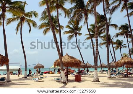 Resort in Aruba - stock photo