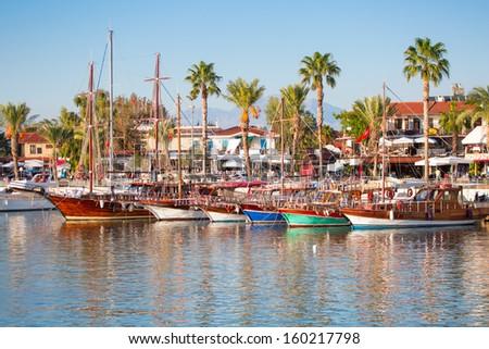 resort town, side Antalya - stock photo