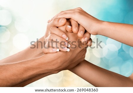 Respect, Human Hand, Togetherness. - stock photo