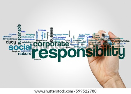 Responsibility Word Cloud Concept Stock Illustration ...