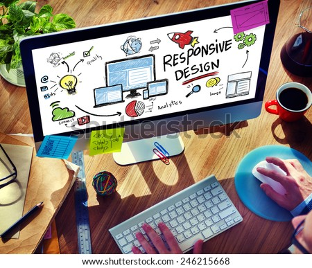 Responsive Design Internet Web Online Browsing Technology Concept - stock photo