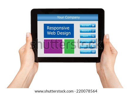 Responsive web design on mobile devices tablet pc