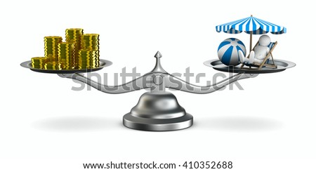 Rest choice. Isolated 3D image - stock photo