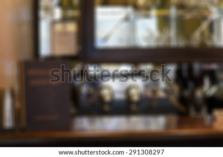 Restaurant abstract blur background with bokeh image