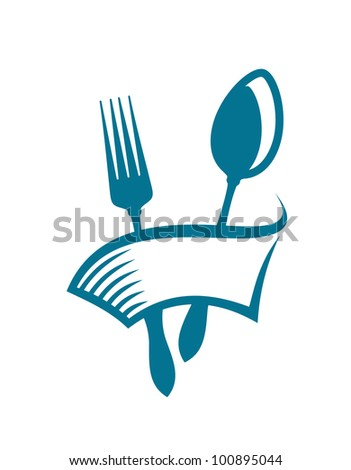 Restaurant and menu symbol, such logo. Vector version also available in gallery - stock photo