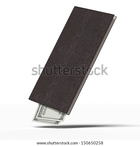 Restaurant bill with money - stock photo