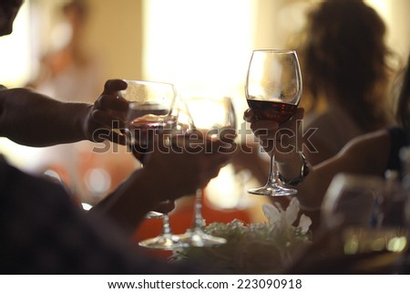 restaurant blurred background - stock photo