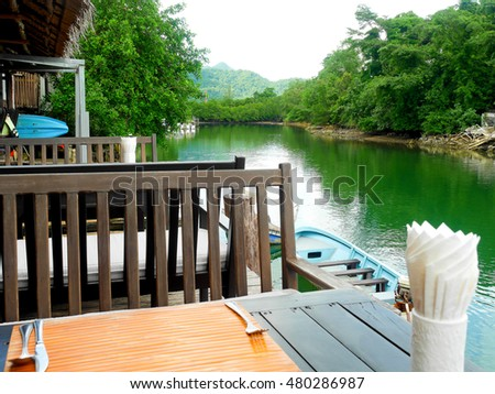Restaurant by the river