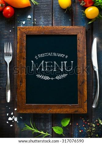 Restaurant cafe menu, template design. Food flyer - stock photo