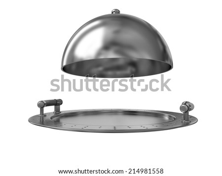 Restaurant cloche isolated on white background