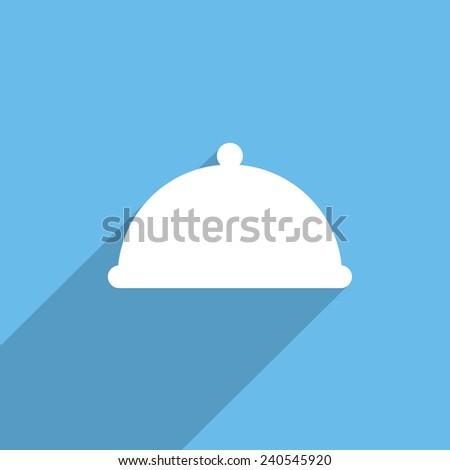 restaurant cloche web flat icon illustration. - stock photo