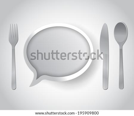 restaurant communication concept illustration design over a white background - stock photo