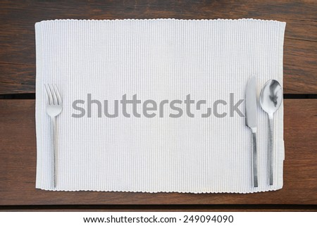 Restaurant dinner place setting - stock photo