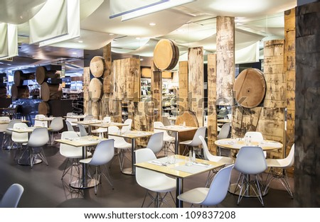 restaurant in ecological theme - stock photo