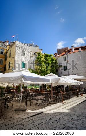 Restaurant in Sibenik, Croatia - stock photo