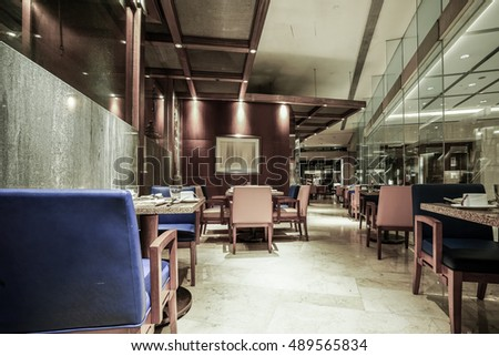 Restaurant interior, part of a hotel