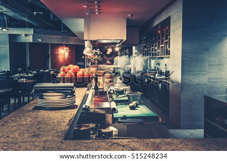 Restaurant Kitchen Work Tables restaurant kitchen stock images, royalty-free images & vectors