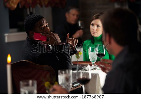 Restaurant: Man Annoyed With Other Diner Using Phone
