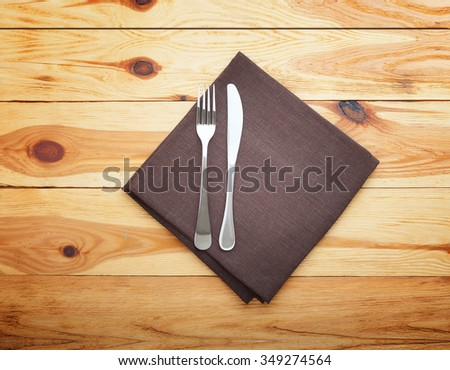 Restaurant Menu Design. Restaurant menu with empty plate and cutlery square