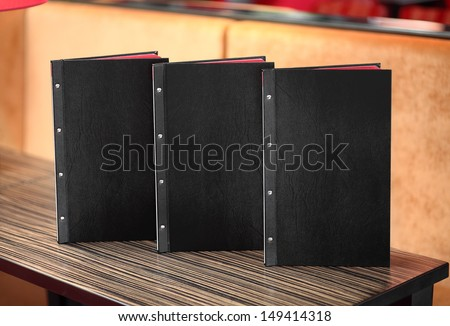 Restaurant menu on the table - stock photo