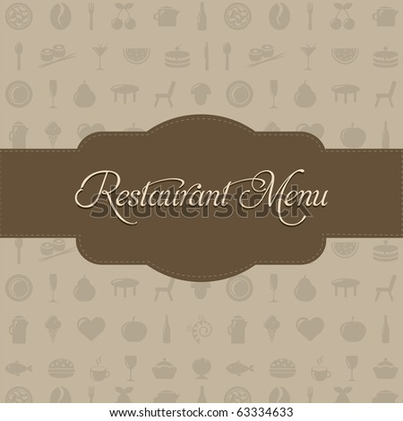 Restaurant Menu With Beige Background And Text - stock photo