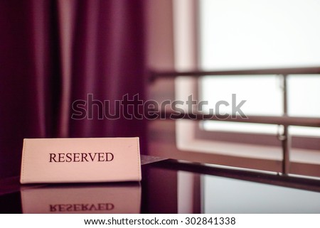 Restaurant reserved table - stock photo