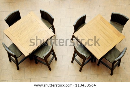 Restaurant's tables - stock photo