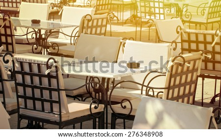 Restaurant service conceptual image - stock photo