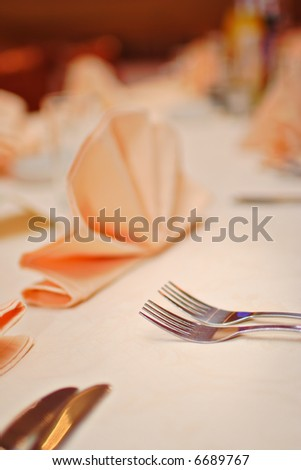 Restaurant setting (Shallow DOF) - stock photo