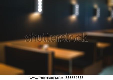 Restaurant Table Blur
