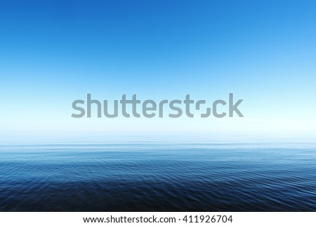 Restful summer day by gulf of Riga; Baltic sea. - stock photo