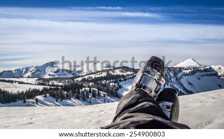 resting with winter landscape