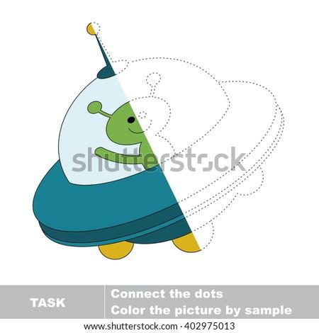 Restore Dashed Line Color Picture Worksheet Stock Illustration ...