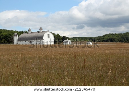 Restored barn built in the 19th century by DH Day, on the Sleeping Dunes National Lakeshore property, in Northern Michigan - stock photo