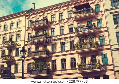 Restored Residential House in Berlin - stock photo