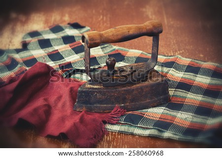 Restored vintage iron - stock photo