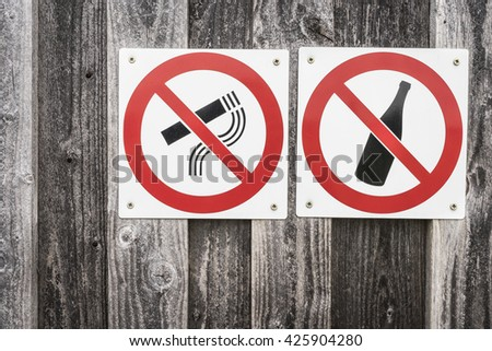 restriction signs - stock photo
