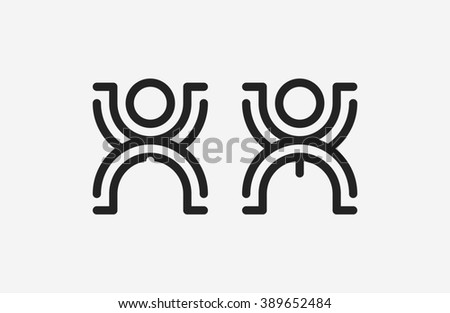 Restroom male and female sign. creative toilet signs.  - stock photo