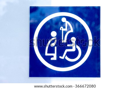 Restroom sign,Toilet sign - stock photo