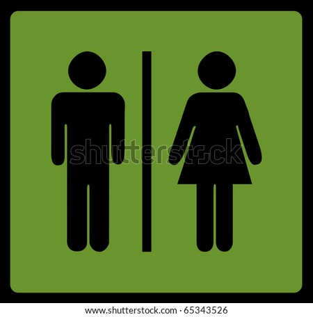 Restroom signs for men and women - stock photo