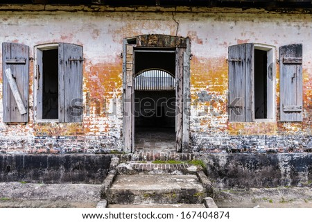Rests of the Prison in Saint Laurent du Maroni, French Guiana, South America