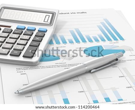 Result Pen Calculator On Paper Graph Stock Illustration 114200464 ...