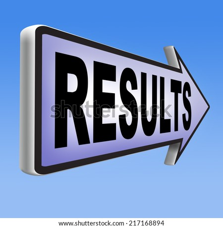 results and succeed business success be a winner in business elections pop poll or sports result test result business report election results  - stock photo