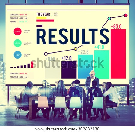 Results Effect Achievement Assessment Evaluate Concept - stock photo