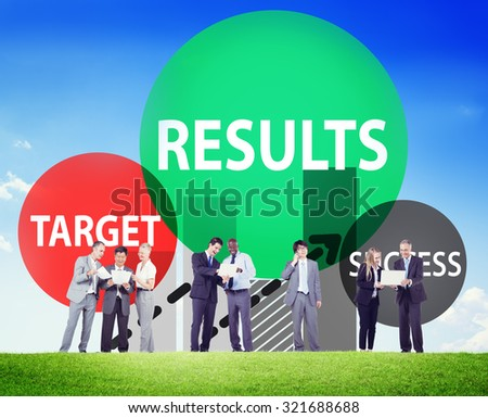 Results Target Success Planning Strategy Progress Concept - stock photo
