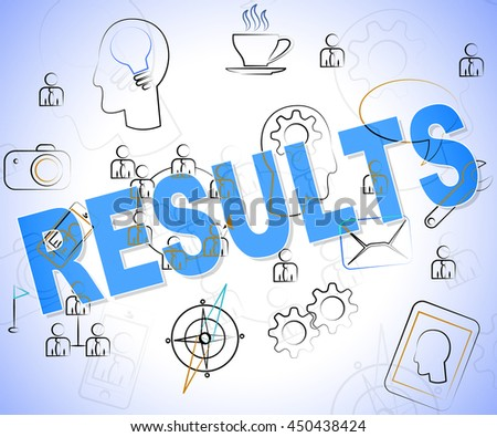 Results Word Indicating Reports Achievement And Outcomes - stock photo