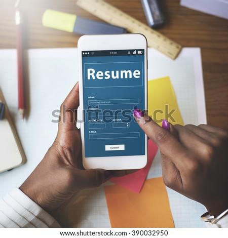 Resume CV Recruitment Employment Concept - stock photo